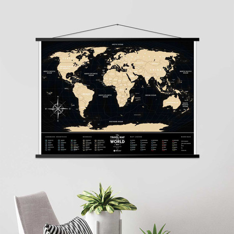 World Travel Map // Black