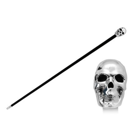 Silver Skull Cane