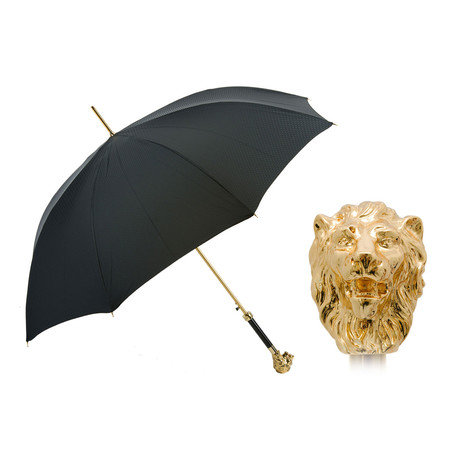 Long Umbrella // Gold Lion Handle
