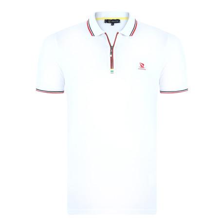 Monte Carlo Short Sleeve Polo Shirt // White (XS)