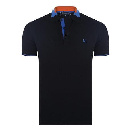 Curry Short Sleeve Polo Shirt // Black (XS)