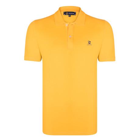 Marshall Short Sleeve Polo Shirt // Mustard + Purple (XS)