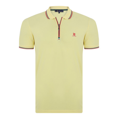 Simmons Short Sleeve Polo Shirt // Yellow (XS)