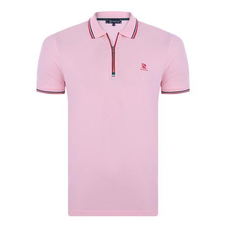 Francesco Short Sleeve Polo Shirt // Pink (XS)