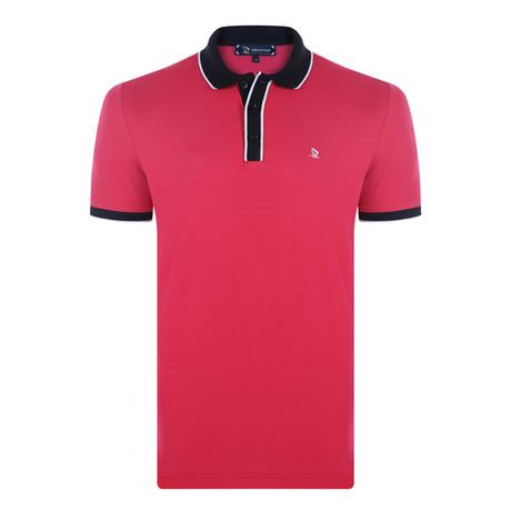 Edgar Short Sleeve Polo Shirt // Fuchsia (XS)