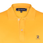 Marshall Short Sleeve Polo Shirt // Mustard + Purple (XL)
