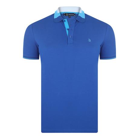 Giannis Short Sleeve Polo Shirt // Sax (XS)