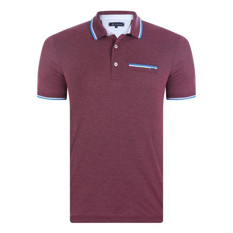 Lugano Short Sleeve Polo Shirt // Bordeaux (XS)