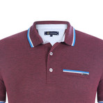 Lugano Short Sleeve Polo Shirt // Bordeaux (S)
