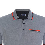 Florence Short Sleeve Polo Shirt // Black (XL)