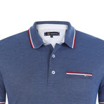 Milan Short Sleeve Polo Shirt // Indigo (2XL)