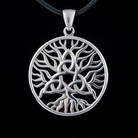 Yggdrasil + Triquetra Symbol Pendant