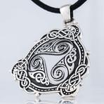 Triskelion + Scandinavian Ornament Pendant