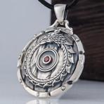 Shield + Ouroboros Symbol Pendant