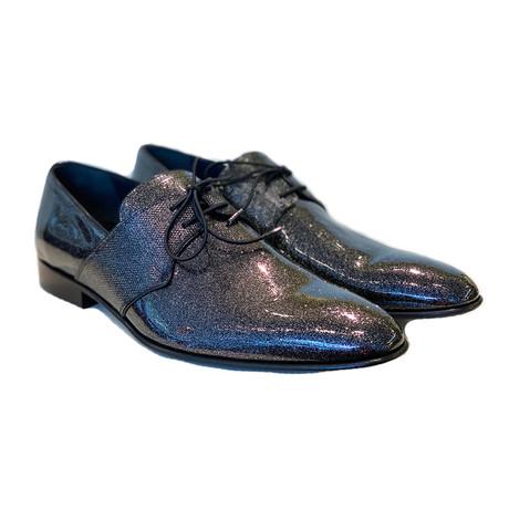 Plain Toe Elastic Lace Up // Black (US: 7)