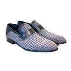 High Vamp Loafer + Contrast Stitching // Light Gray (US: 10.5)