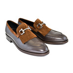 Kiltie Buckle Loafer // Brown (US: 8)