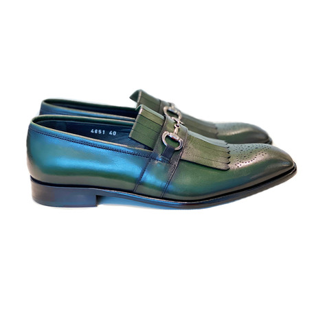 Kiltie Buckle Loafer // Green (US: 7)
