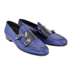 Double Buckle Loafer// Navy (US: 8)
