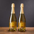 Honey Sparkling Wine // 750 ml // Set of 2 (Brut 750 ml // 2 Bottles)