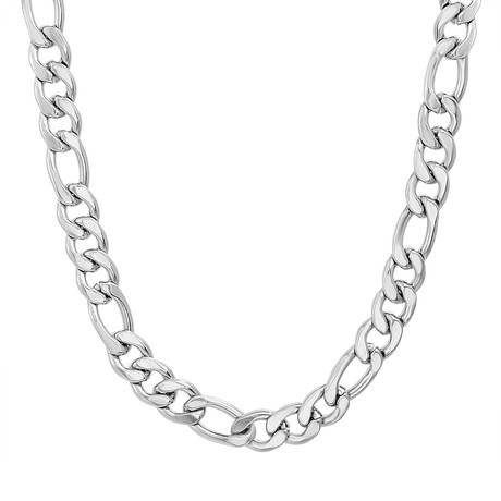 Steel Evolution // Figaro Chain Necklace // White