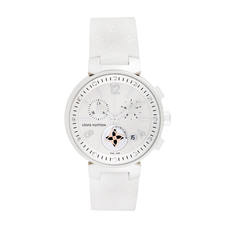 Louis Vuitton Ladies Tambour Chronograph Quartz // Q8G00 // Pre-Owned