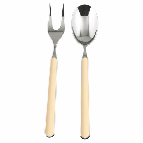 Fantasia Serving Fork + Spoon // Vanilla