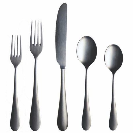 Natura Cutlery // 5 Piece Set // Brushed Stainless
