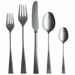 Italia Cutlery // 5 Piece Set // Brushed Stainless