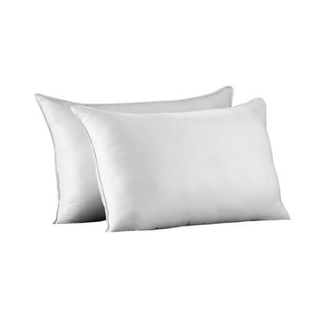 Soft Plush Allergy-Resistant Gel Fiber Stomach Sleeper Pillow // Set of 2 (Standard)