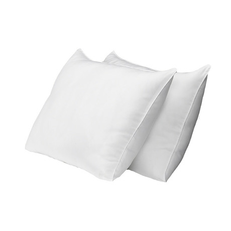 Overstuffed Plush Allergy-Resistant Gel Filled Side/Back Sleeper Pillow // Set of 2 (Standard)