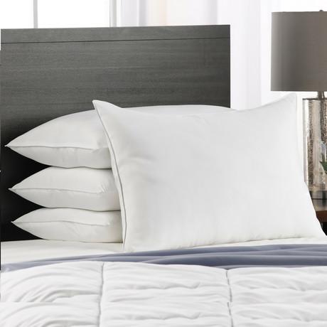 Cotton Blend Superior Down-Like SOFT Stomach Sleeper Pillow // Set of 4 (Standard)