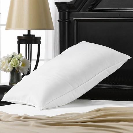Overstuffed Plush Allergy Resistant Gel Filled Side/Back Sleeper Pillow (Standard)