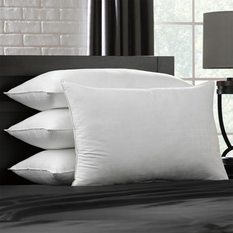 Soft Gel Filled 100% Cotton Stomach Sleeper Pillow // Set of 4 (Standard)