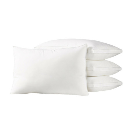 Soft Luxury Plush Gusseted Soft Gel Filled Stomach Sleeper Pillow // Set of 4 (Standard)