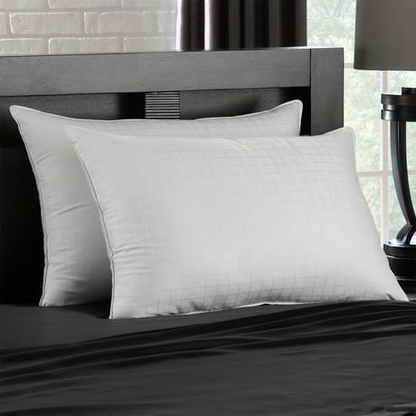 Soft Gel Filled 100% Cotton Stomach Sleeper Pillow // Set of 2 (Standard)