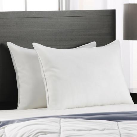 Cotton Blend Superior Down-Like SOFT Stomach Sleeper Pillow // Set of 2 (Standard)