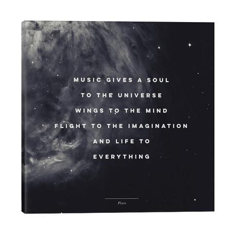 """Music I // Galaxy Eyes (26""""W x 26""""H x 1.5""""D)"""