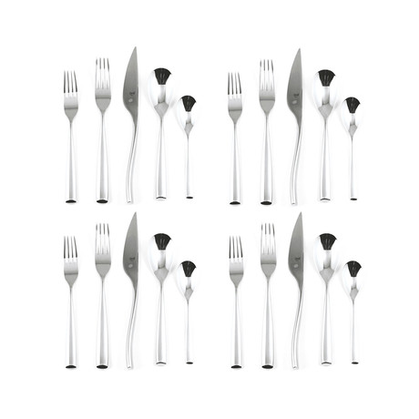 Arte Cutlery // 20 Piece Set (Glossy Stainless)