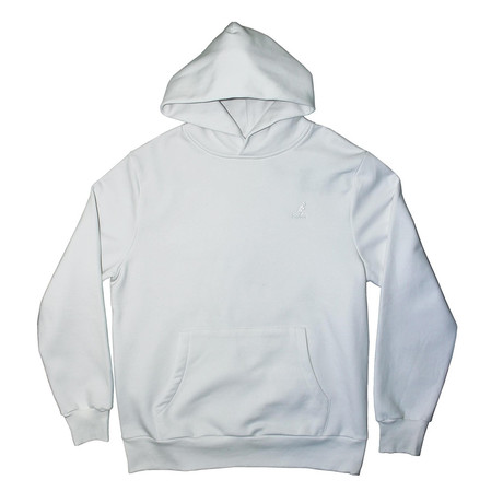 Plush Fleece Hoodie // White (S)