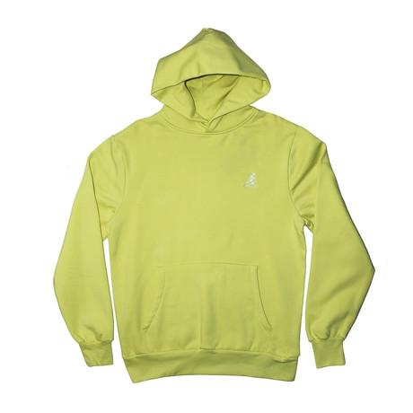 Plush Fleece Hoodie // Bleached Lime (S)