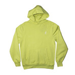 Plush Fleece Hoodie // Bleached Lime (M)