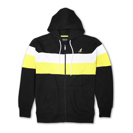 Colorblock Full Zip Hoodie // Black Combo (S)