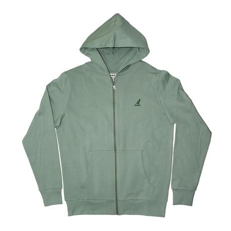 Full Zip Fleece Hoodie // Aspen Green (S)