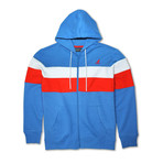 Colorblock Full Zip Hoodie // Palace Blue Combo (XL)