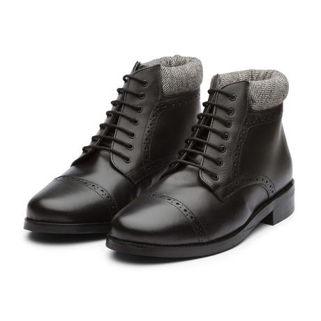 Toecap Derby Boot // Black Leather (US: 7)