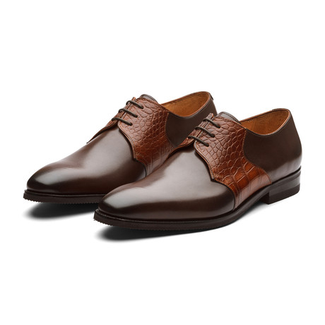 Albert Crocodile Leather Derby // Brown (US: 7)