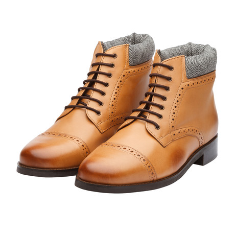 Toecap Derby Boot // Tan Leather (US: 7)