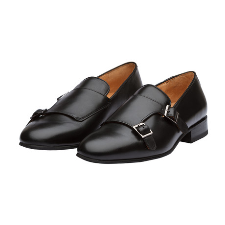 Monkstrap Belgian Loafers // Black (US: 7)