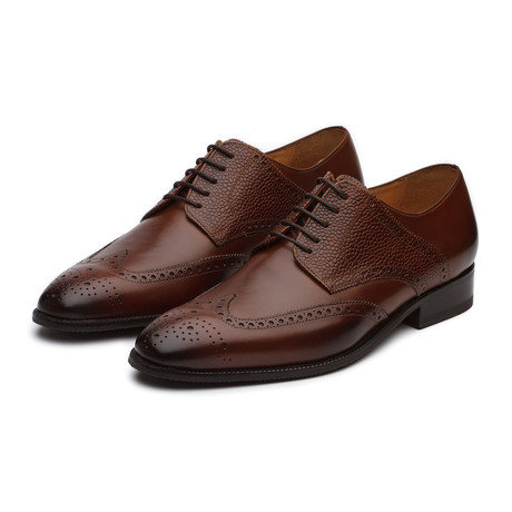 Felix Leather Wingtip Brogue Shoes // Brown (US: 7)